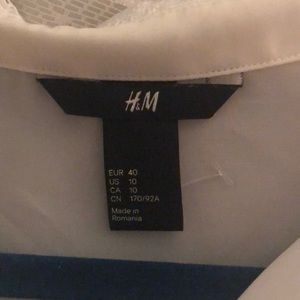 H&M Tops - White collared blouse